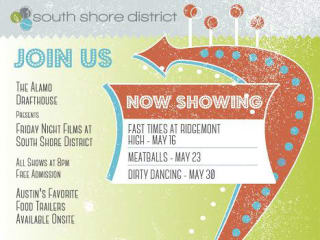 flyer for South Shore District summer film series 2014