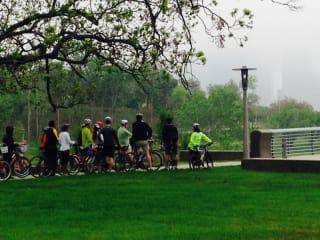 Architecture Center Houston hosts Buffalo Bayou Park Bike Tour with SWA Group and Buffalo Bayou Partnership