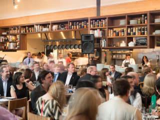 3016, Ballet Barre dinner, April 2013, Underbelly, crowd, venue