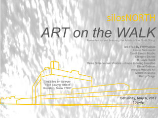 The artists of The Silos North Wing presents SilosNORTH ART on the WALK
