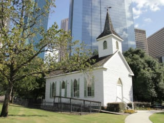 St. John Church at Sam Houston Park