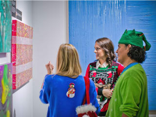 Winter Holiday Art Market Ugly Sweater Preview Party