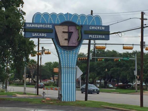 EZ's Austin restaurant sign
