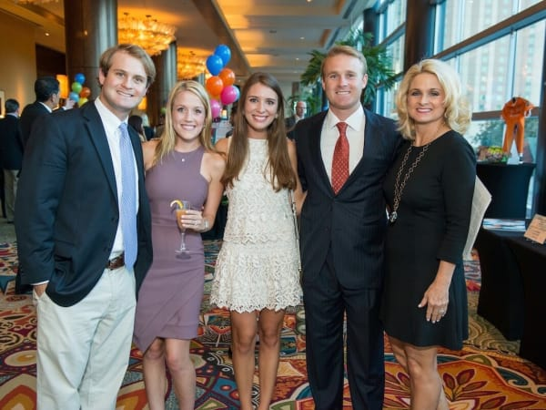 Boys & Girls Club dinner, 9/16 : Brad Strake, Caroline Hickey, Hannah and Vince Strake, Carla Strake