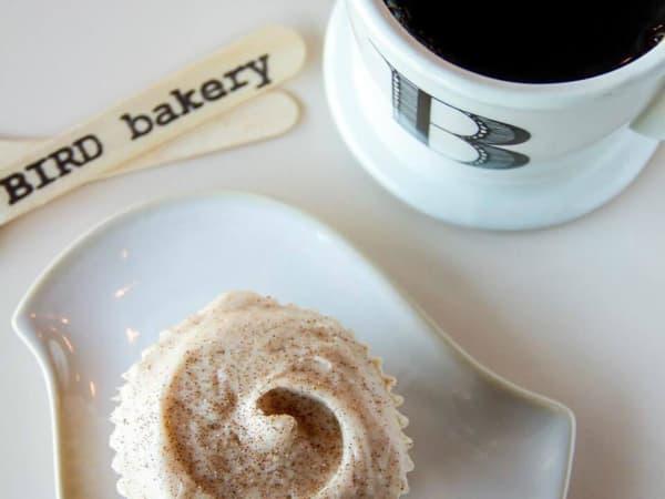 Bird Bakery coffee cupcake