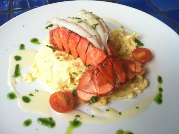 Cappy's Restaurant lobster tail truffle eggs