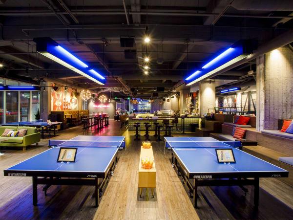 Spin ping pong bar