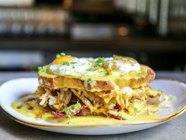 Happiest Hour Rise and Shine brunch sandwich
