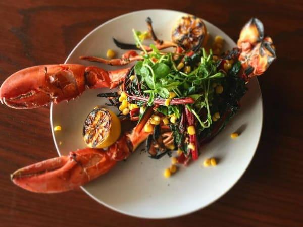 Folc San Antonio restaurant whol stuffed lobster
