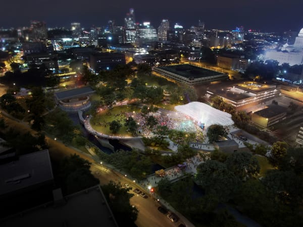 Waterloo Park Moody Foundation grant rendering 2017