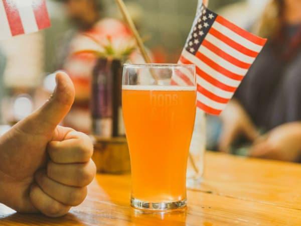 Hops & Grain Brewing brewery beer glass 2015