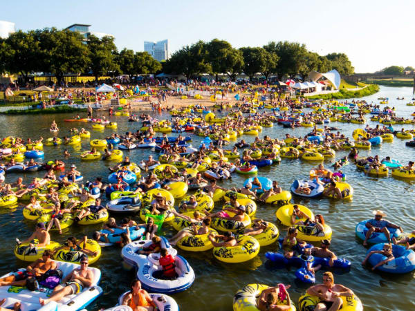 Tubers at Panther Island Pavilion