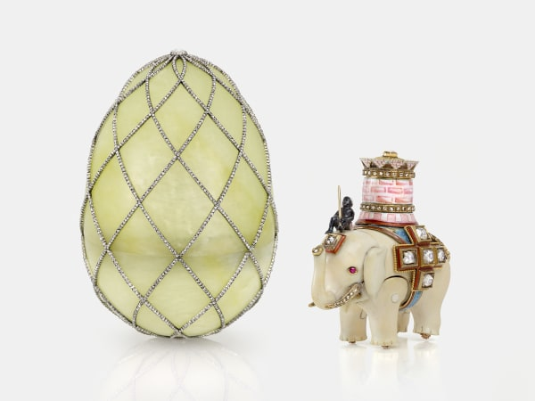 Fabergé: Royal Gifts featuring the Trellis Egg Surprise