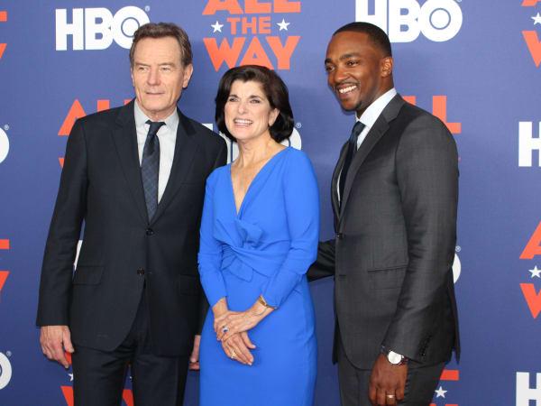 Austin premiere HBO film All the Way LBJ red carpet Bryan Cranston Luci Baines Johnson Anthony Mackie