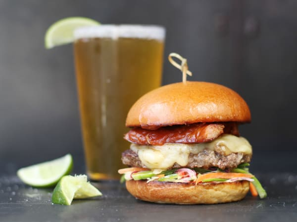 Hopdoddy Burger Bar hamburger Jackalope special April 2016