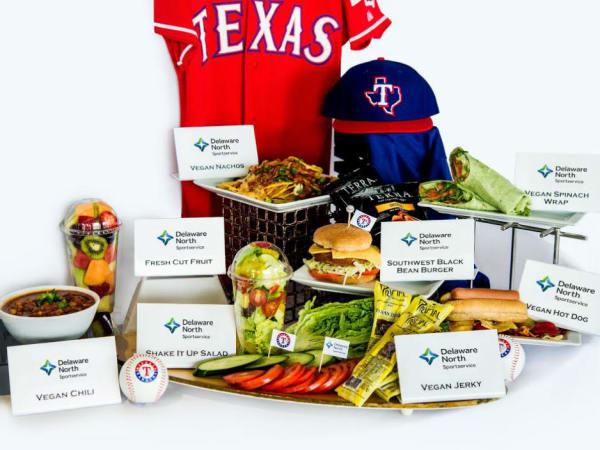 Texas Rangers vegan ballpark concessions