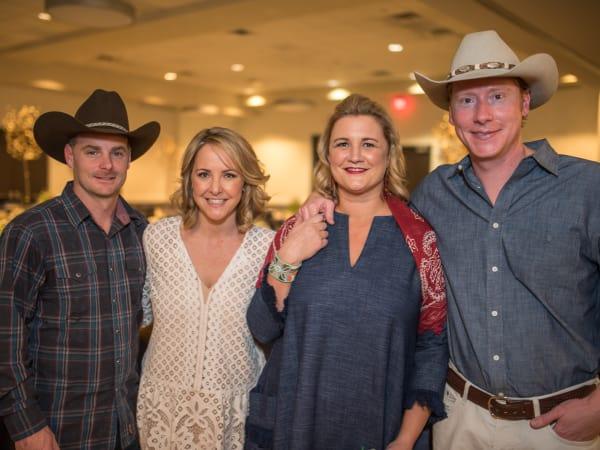 Parish School Gala, Feb. 2016, Eric Holzer, Whitney Holzer, Lizzie Clarke, Stephen Clarke