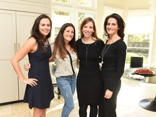 News, Children's Assessment Center tea, Dec. 2015, Natalie Mohtashami, Hillary Jebbitt, Amanda Seaberg and Alexandra Bruskoff