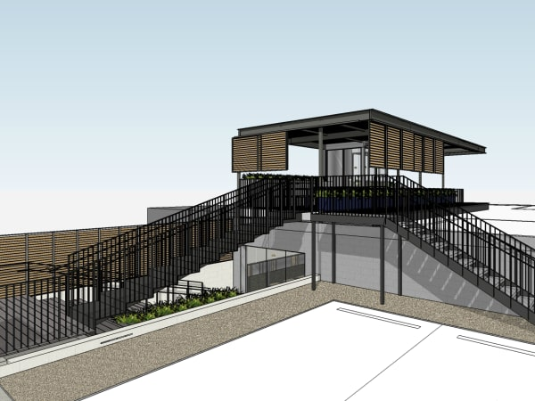 Backbeat bar South Lamar rooftop patio bar rendering December 2015