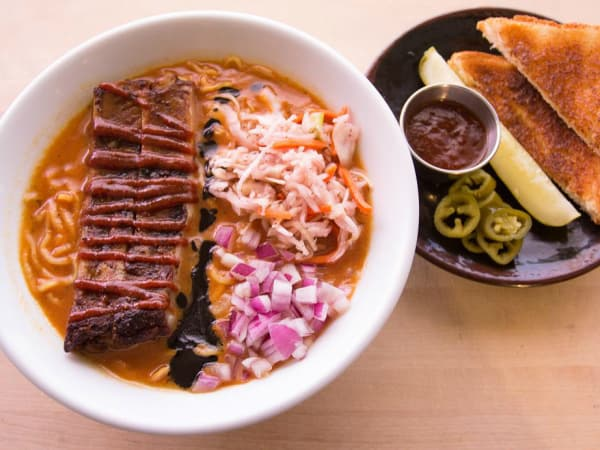 Michi Ramen Texas ribs noodle soup