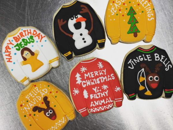 Fluff Bake Bar Ugly Sweater Christmas Cookies