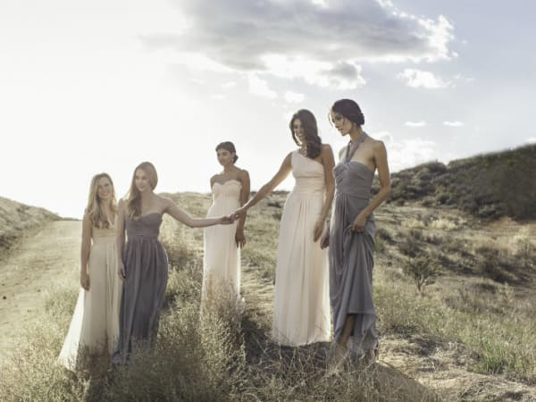 Monique Lhuillier bridesmaids gowns