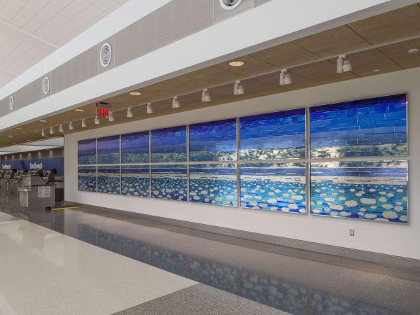 Libbie J. Masterson, Ethereal Sky, Hobby Airport art