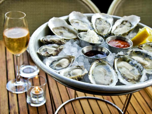Champagne, Oysters, Proof + Pantry