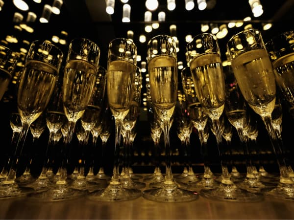 champagne at Michael Kors Gold fragrance launch