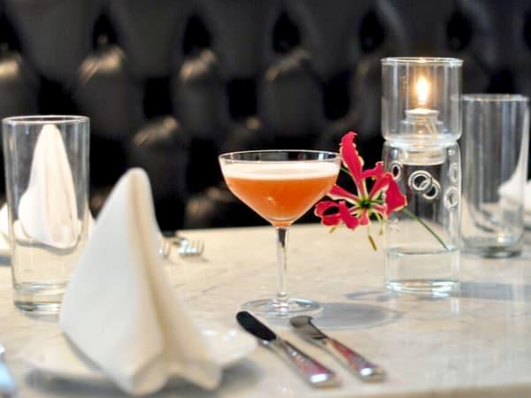 Bess Bistro Austin restaurant cocktail table set