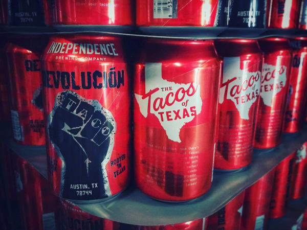 Independence Brewing Co. Revolución Saison Ale Tacos of Texas