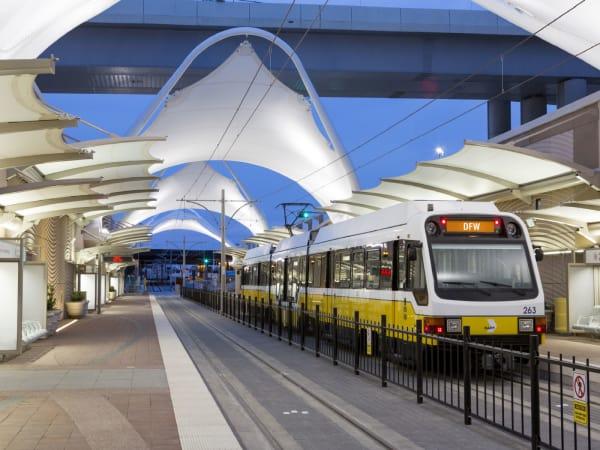 DFW Airport rail station