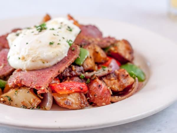 Corned beef hash, Irish brunch, Chef Point Cafe