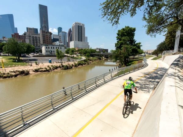 White Oak bayou Buffalo Bayou trail link Houston