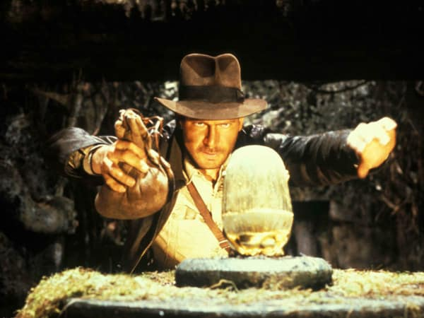Harrison Ford as Indiana Jones in Raiders of the Lost Ark