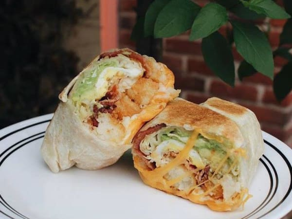 The Rooster Truck breakfast burrito