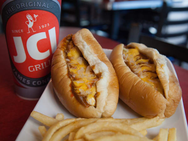 James Coney Island original chili cheese dog
