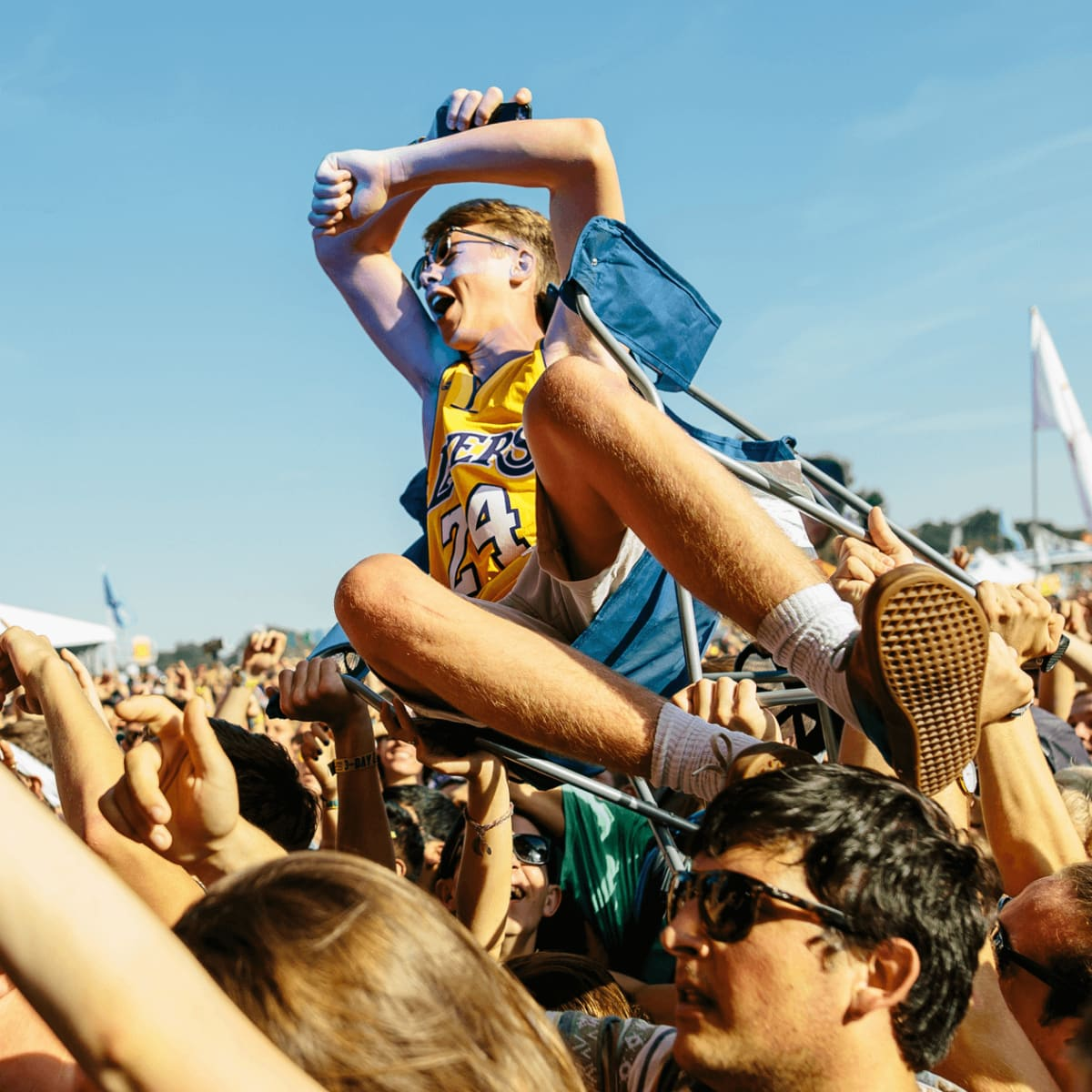 Austin City Limits Festival ACL 2015 Weekend One Day One Crowd Surfer