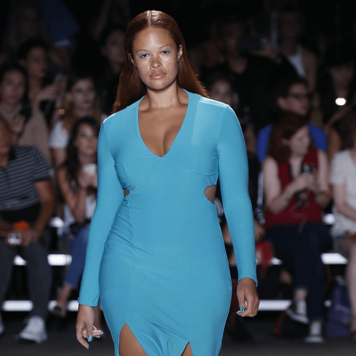 Christian Siriano look 15 plus size model