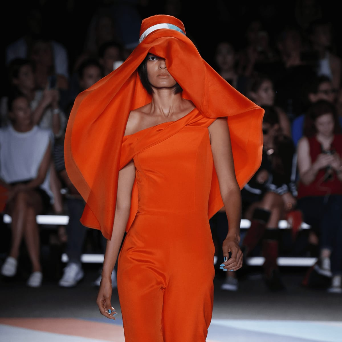 Christian Siriano look 13 orange outfit