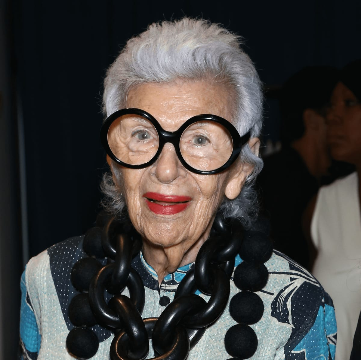 Iris Apfel attends HSN Presents Serena Williams Signature Statement Collection Fashion Show