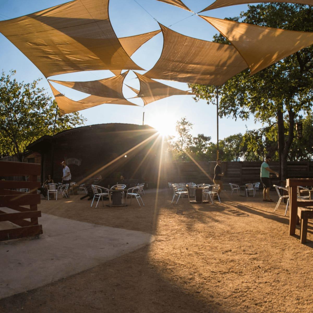 The Scoot Inn venue bar East Austin renovations 2016 outside yard