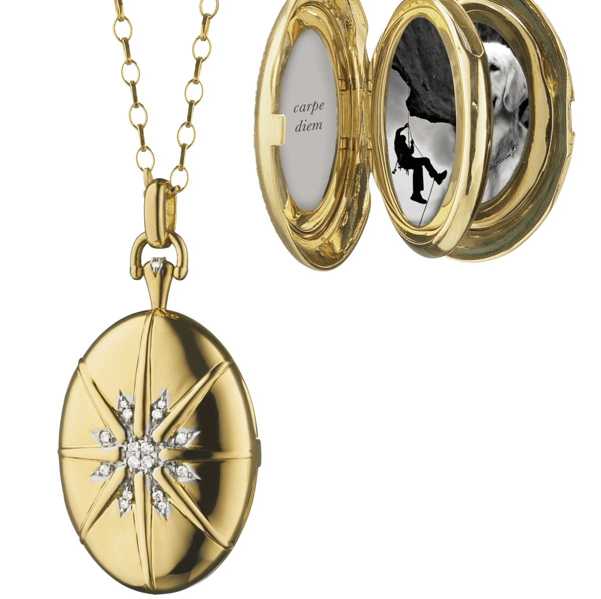 Monica Rich Kosann multiple locket The Four