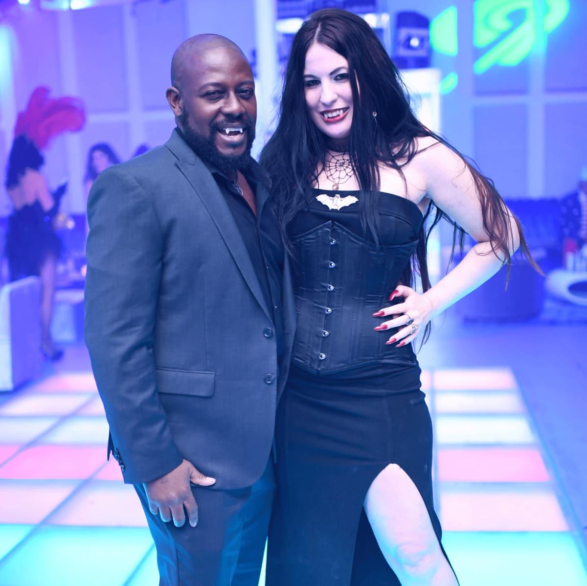Houston, Hollywood Hollyween Party, Oct. 2016, Robert English, Renee Danielle