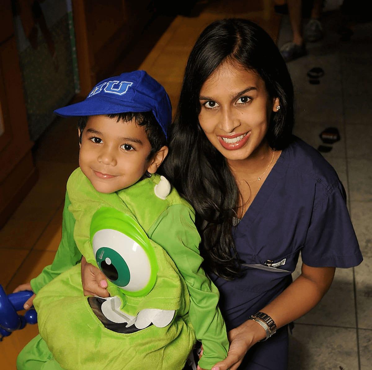 Houston, MD Anderson Children's Cancer Hospital Halloween Spooktacular, Oct. 2016, Meera Avila, Jayden Avila
