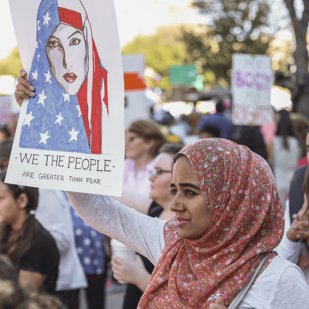 Women's March Austin Hareem Ahmad