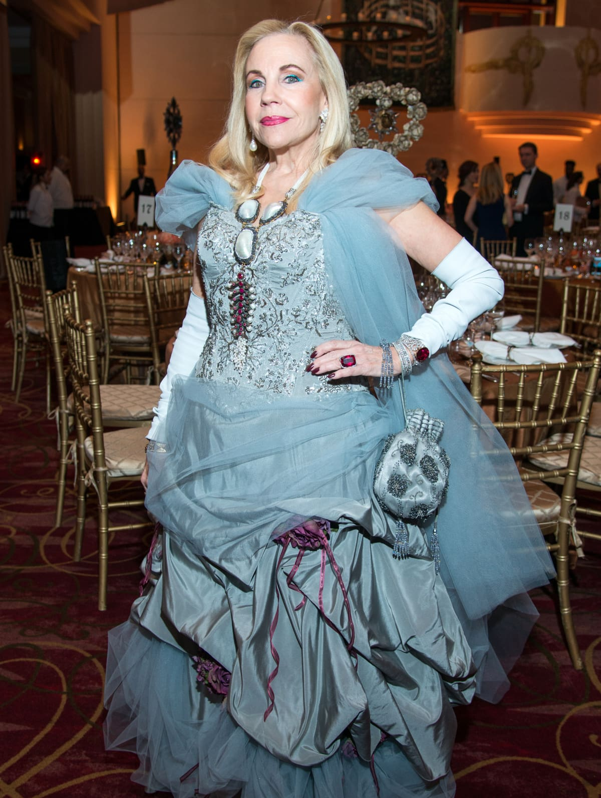 Houston, Ballet Ball gowns, Feb 2017, Dr. Carolyn Farb in vintage Vicki Tiel.