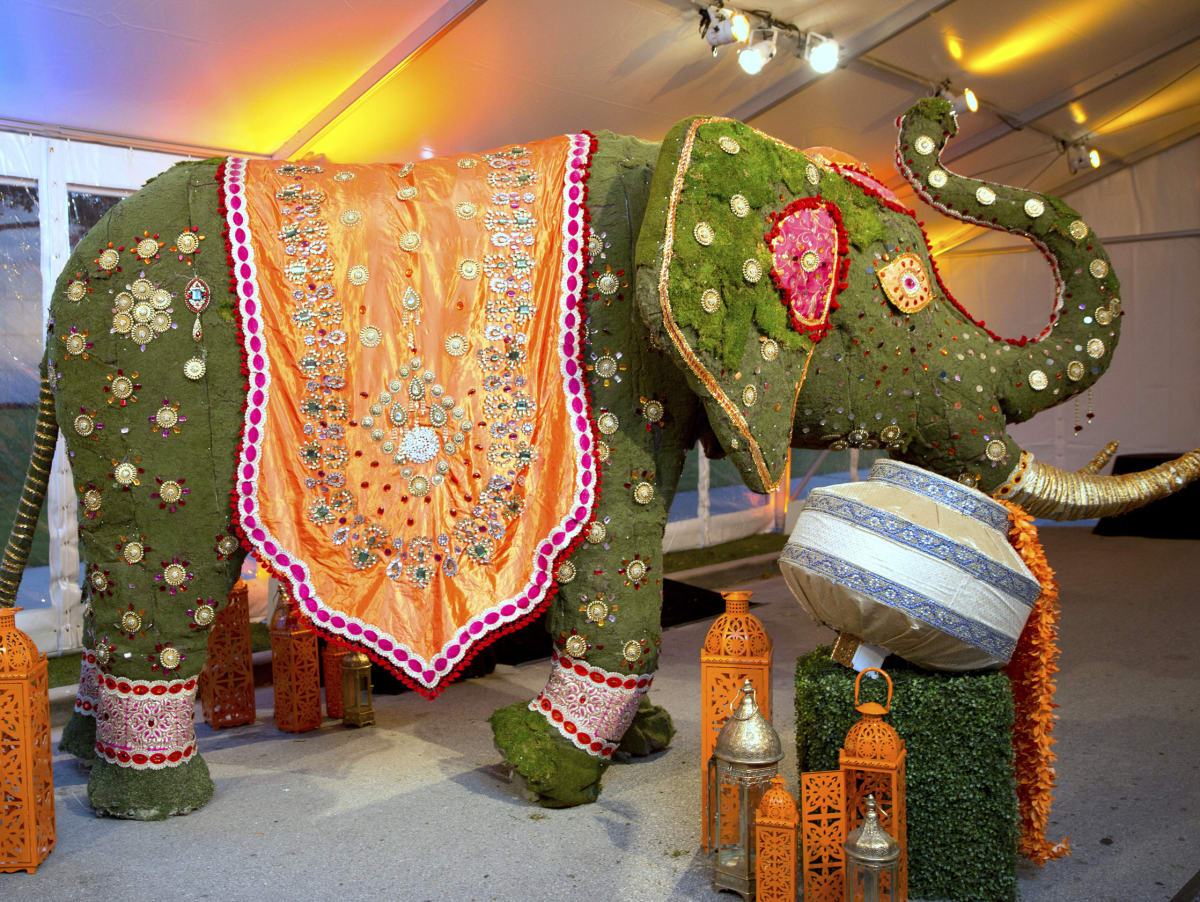 Houston, Tiger Ball, March 2017, bejeweled elephant