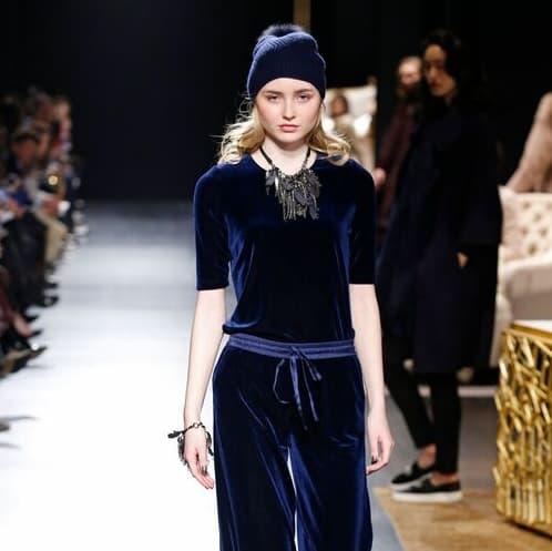 Badgley Mischka fall 2017 sportswear look 1