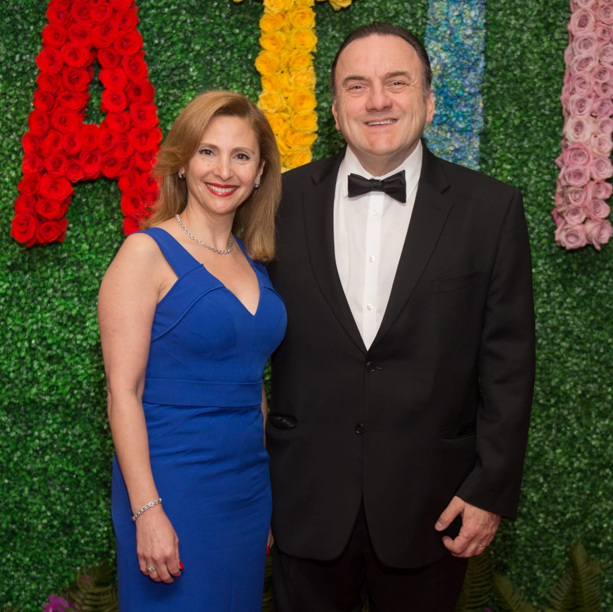 Liliane Haddad, Johny Rizk at Latin American Gala